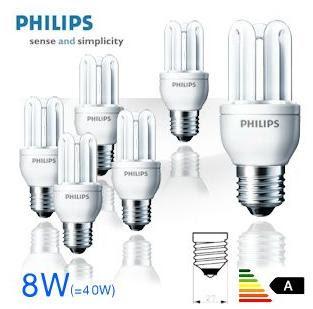 6 Philips Genie 8W WW E27 Energiesparlampen für 20,90 Euro inklusive Versandkosten bei iBood