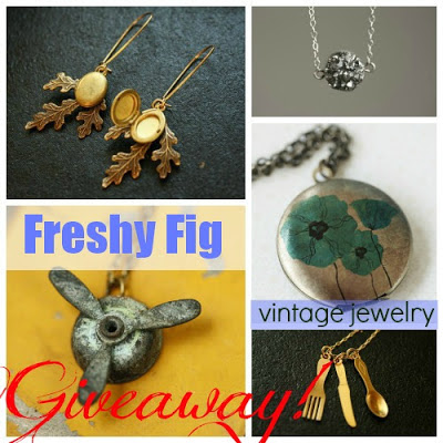 You could win a giveaway to Freshy Fig Jewelry! clever nest
