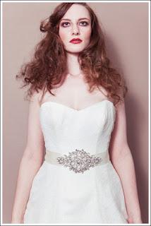 Crystal sash bridal belt-Debbie Carlisle