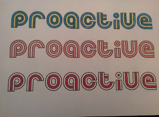 Proactive - a bit of colouring in whilst watching the TV