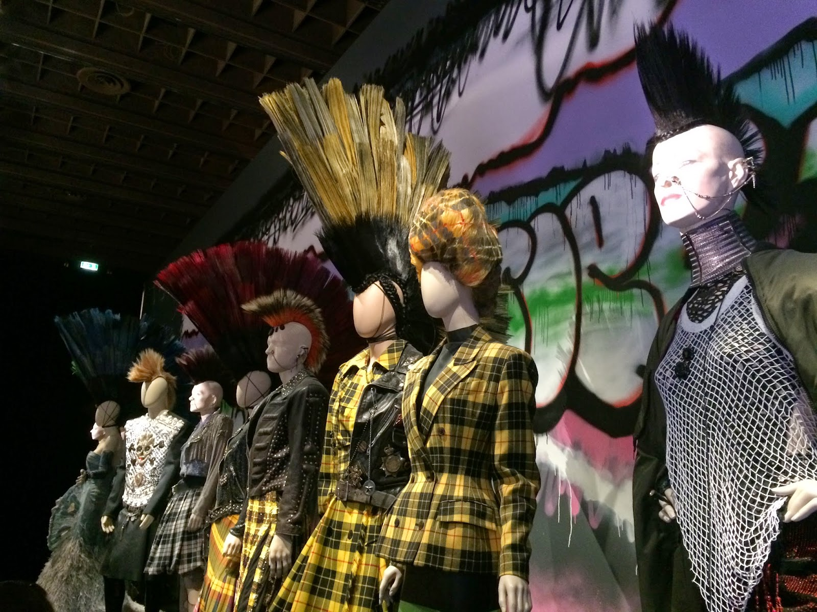 Punk inspired clothing by Jean Paul Gaultier, Le Grand Palais, Paris
