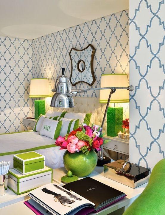 Preppy style home decor