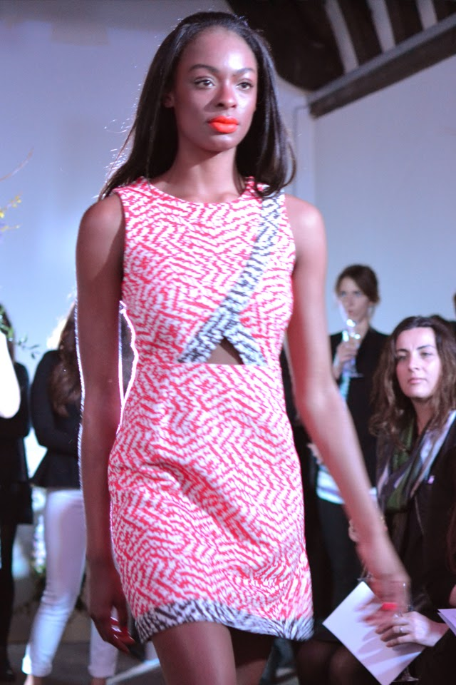 harvey nichols fashion show pilotto cut outs