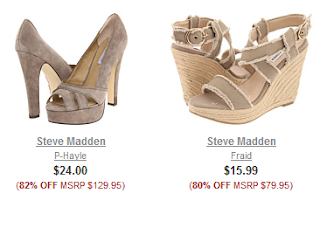 6pm: Steve Madden Up To 82% Off!