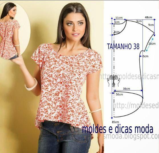 Простые блузки своими руками