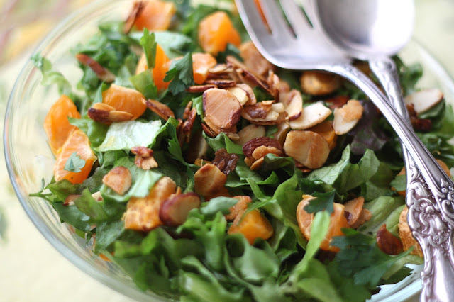 Orange Parsley Salad with White Balsamic Vinaigrette recipe by Barefeet In The Kitchen