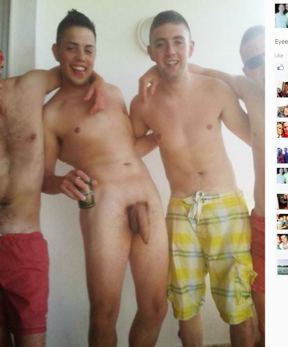 Naked lads on holiday