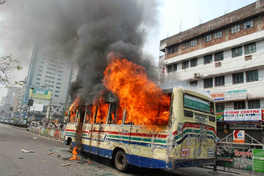 Dhaka, capital of Bangladesh, is buring.