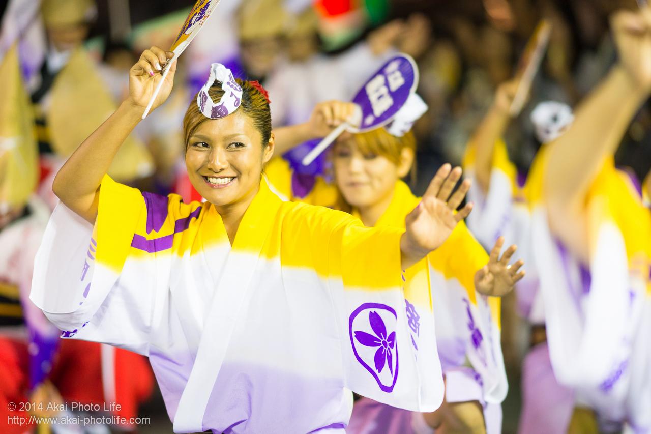 三鷹商工連の女性の団扇踊り