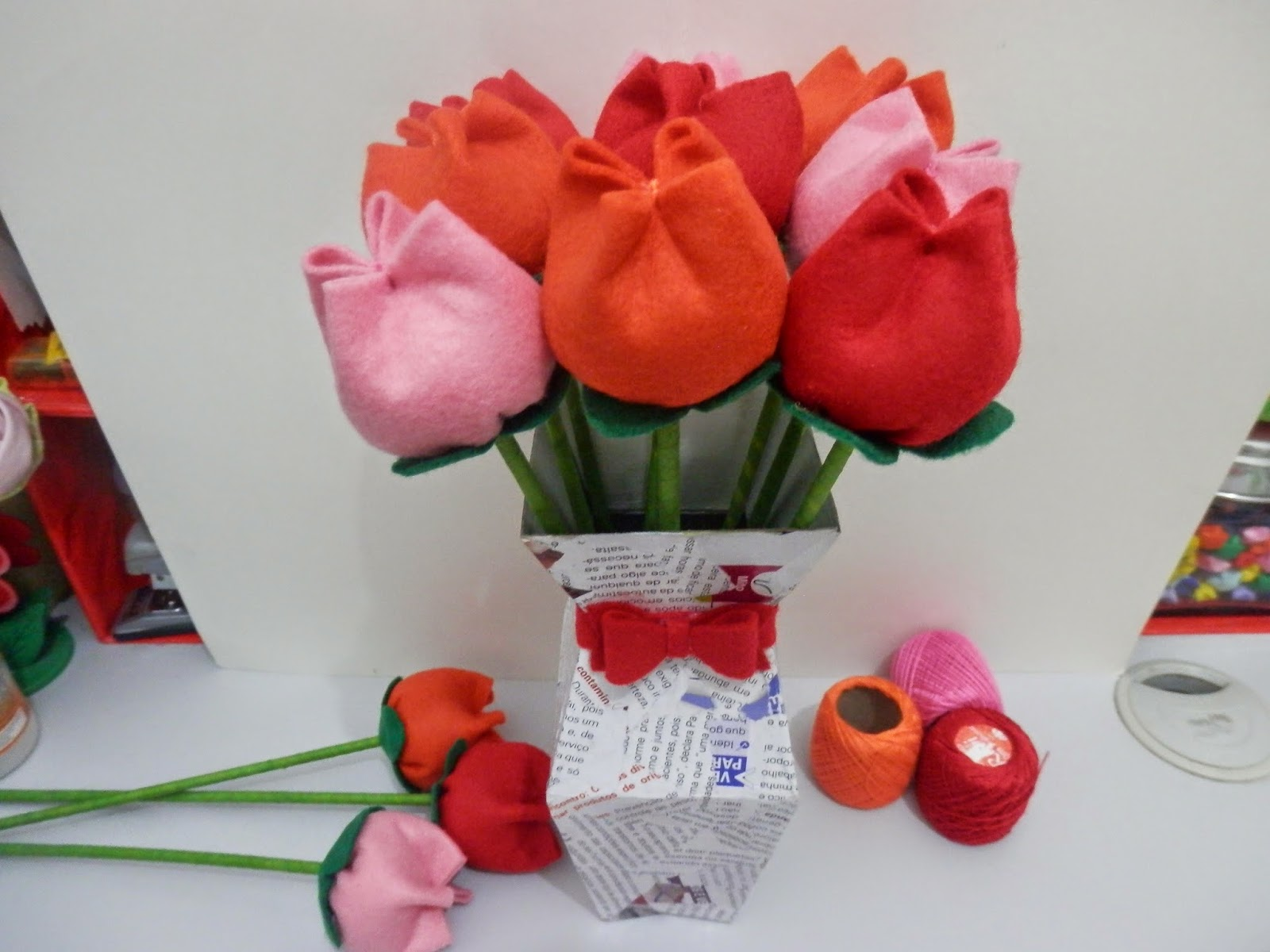 Artesanato Zezinha ~ alinne's world Tulipa Artesanato passo a passo