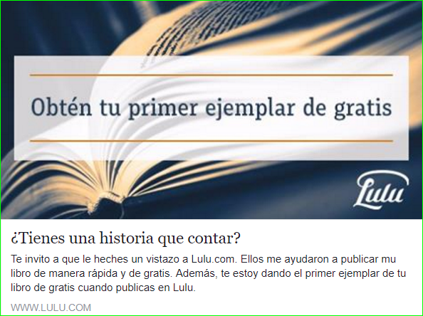Publica tu libro o ebook en Lulu.com