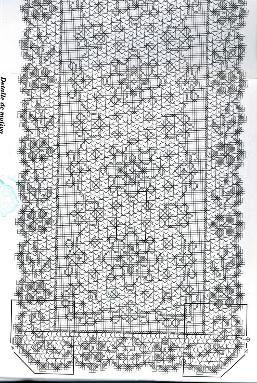 Вязание филейное дорожка 357