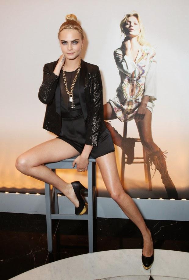 Famosos estiveram no lançamento da coleção da Kate Moss