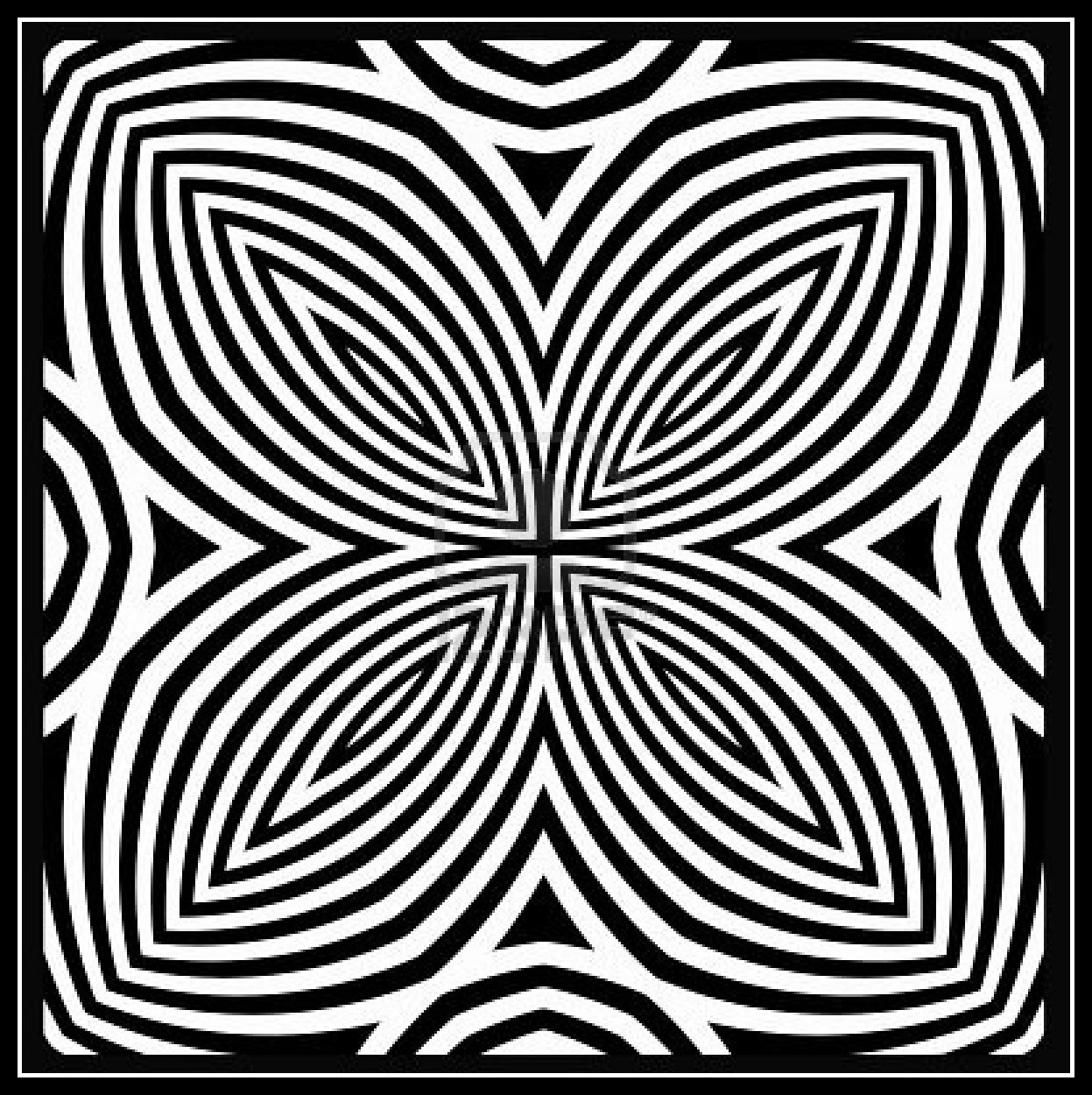 Free coloring pages of opart for Op art coloring pages