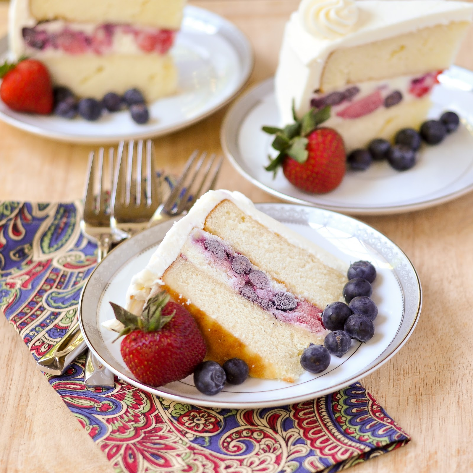 Good Thymes and Good Food: Vanilla Berry Ice Cream Cake