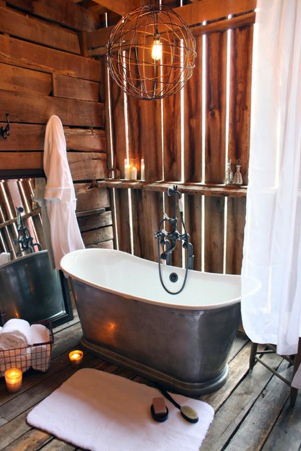 Ideas Para Decorar Baños Pequenos Rusticos:30 ideas de decoración para baños rústicos pequeños