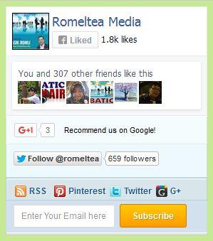 Fanspage, Subscription Box, Plus Social Media Widget