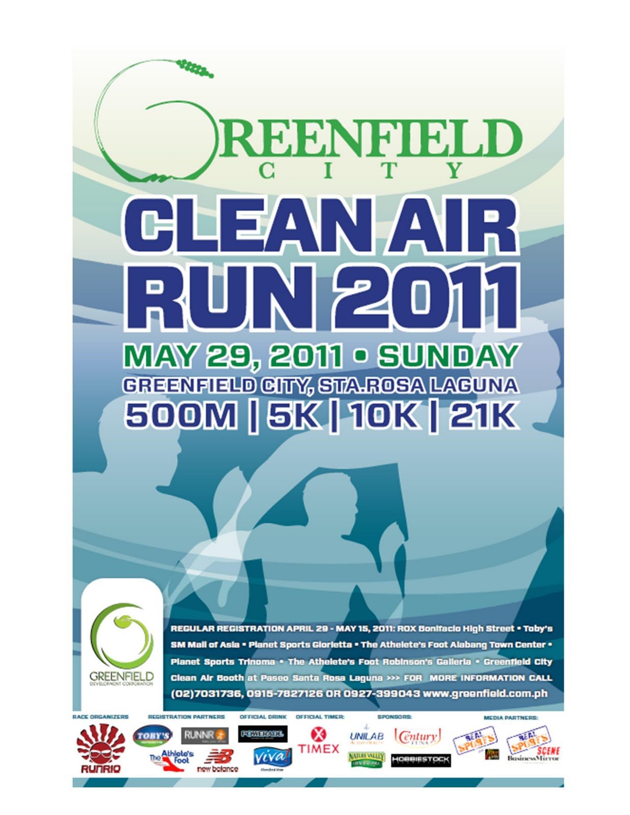 Jet paiso greenfield city run 29 may 2011 sta rosa laguna greenfield development corporation invites all runners to experience running in a pollution free environment on may 29 2011 at the greenfield city stopboris Gallery