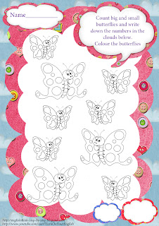 butterfly counting worksheet for preschool