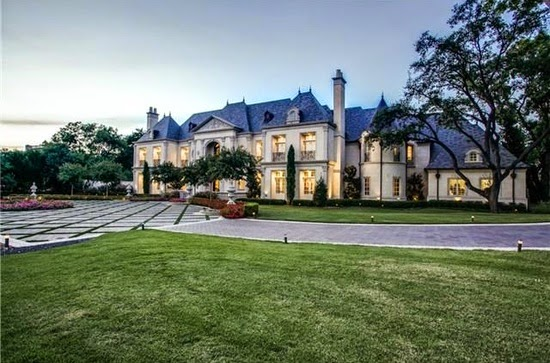 Eileen 39 s home design limestone french mansion for sale in for Mansions in dallas tx