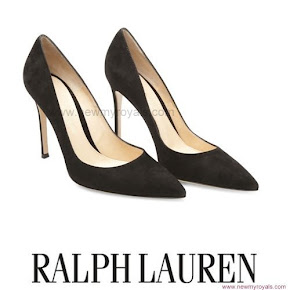 Crown Princess Victoria Style RALPH LAUREN Pumps and ADRIANNA PAPELL Dress