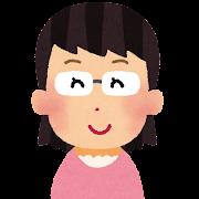 メガネを掛けた女性のイラスト