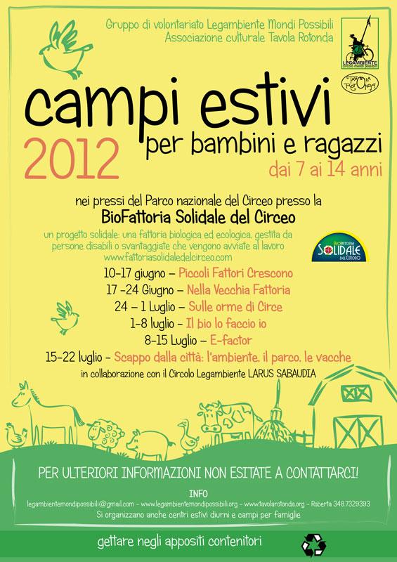 ... CAMPI ESTIVI LEGAMBIENTE MONDI POSSIBILI PER BAMBINI E RAGAZZI- 2012