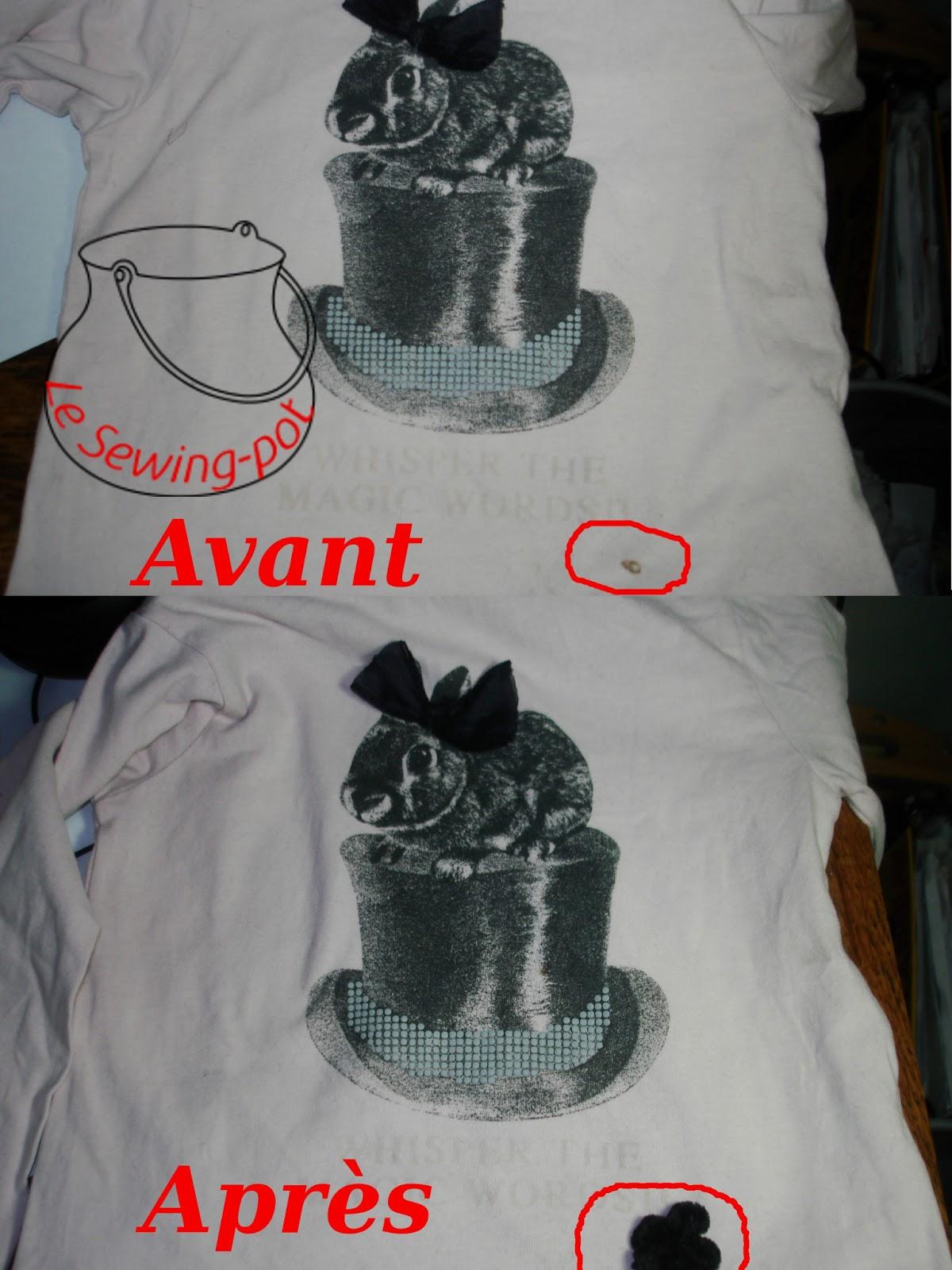recyclage t-shirt tache