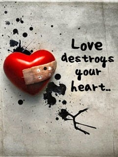 Love Destroys Your Heart - Broken Heart Wallpaper  Mobile Wallpapers