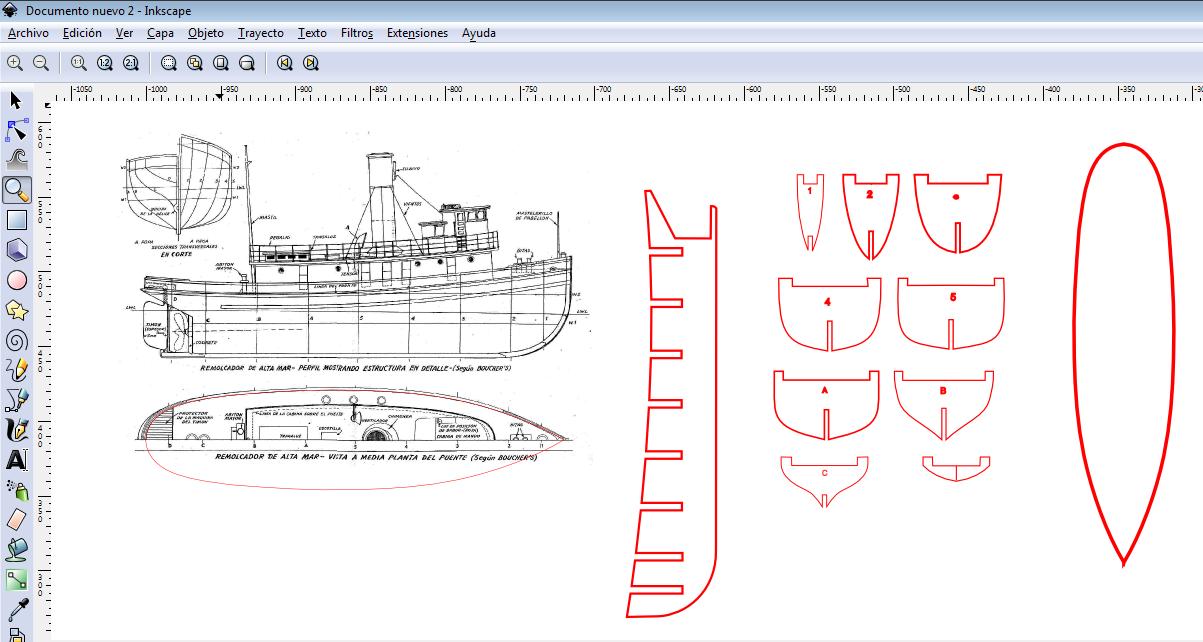 Modelismo naval para principiante remolcador for Programa para hacer planos a escala