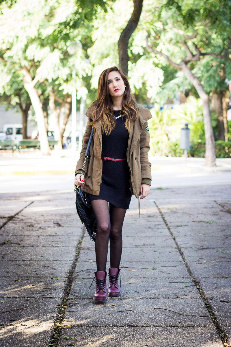 OUTFIT MILITAR Y NEGRO