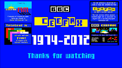 Final frame on Pages from Ceefax - 1974-2012 Thanks for watching