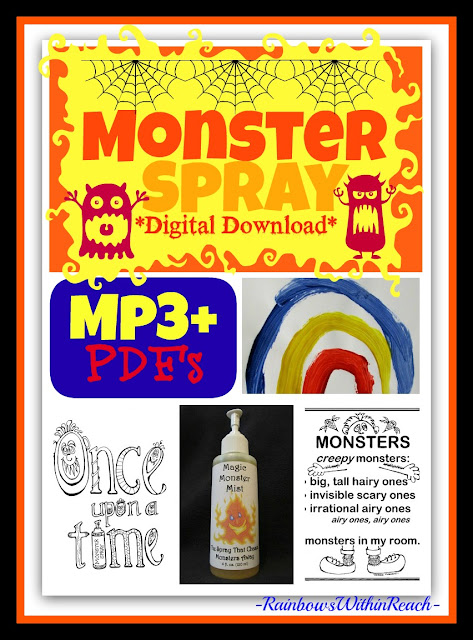 photo of: &quot;Monster Spray&quot; Goes Digital Download with Mp3 + Pdf's from RainbowsWithinReach