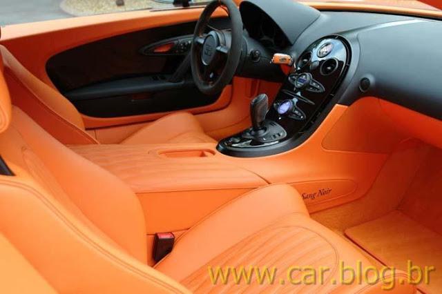 Bugatti Veyron Super Sports - Sang Noir - Couro Tangerina