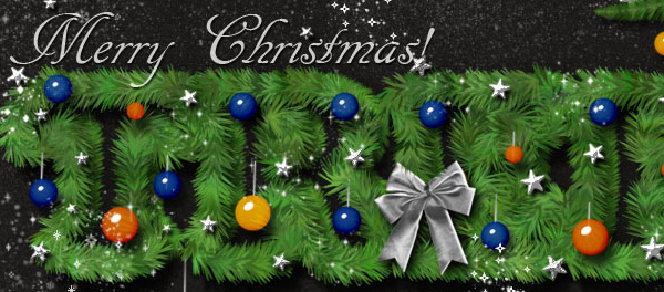 stamp in photoshop create a christmas tree photoshop text effect