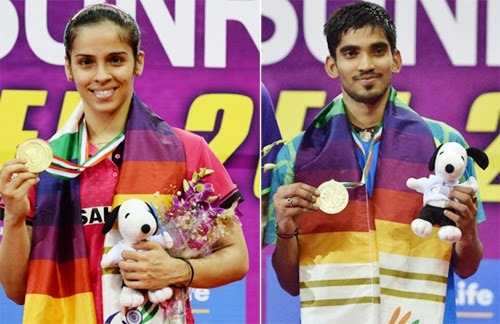 Saina, Srikanth make it double delight at India Open