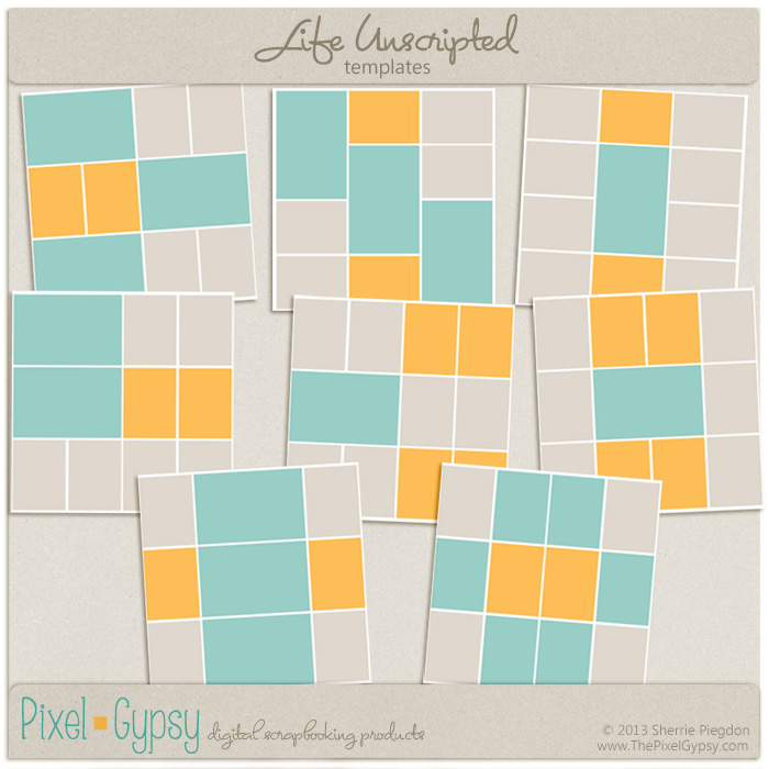 Life Unscripted Square Corner Project Life Digital Templates