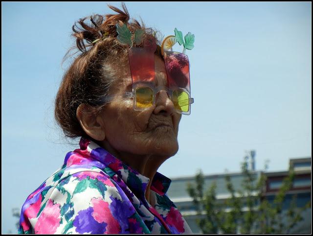 Hippie grandma at Oysterfest in Arcata, California