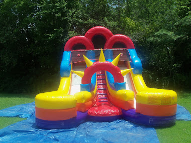Inflatable Kingdom Double Splash Water Slide