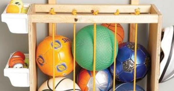 I d e a guardar pelotas - Guarda juguetes madera ...