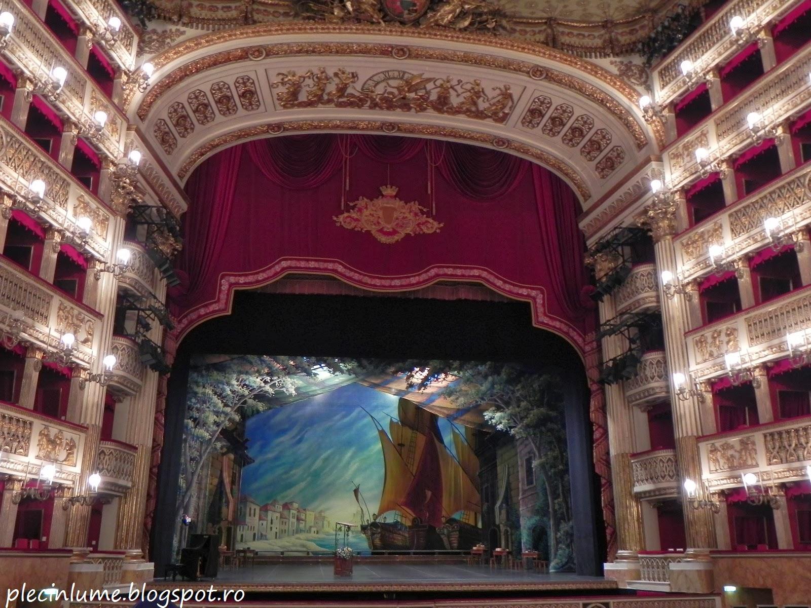 Scena din Teatrul San Carlo
