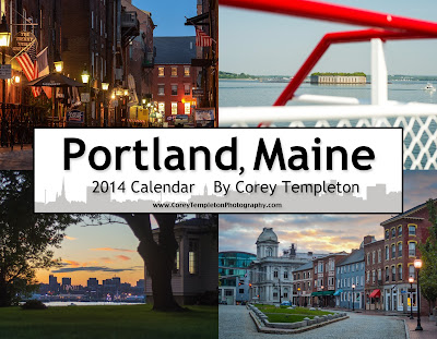 Portland, Maine 2014 Calendar by Corey Templeton
