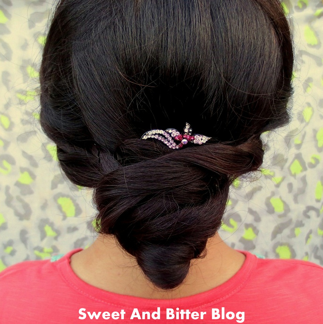 Indian Bun Hairstyle with Braids