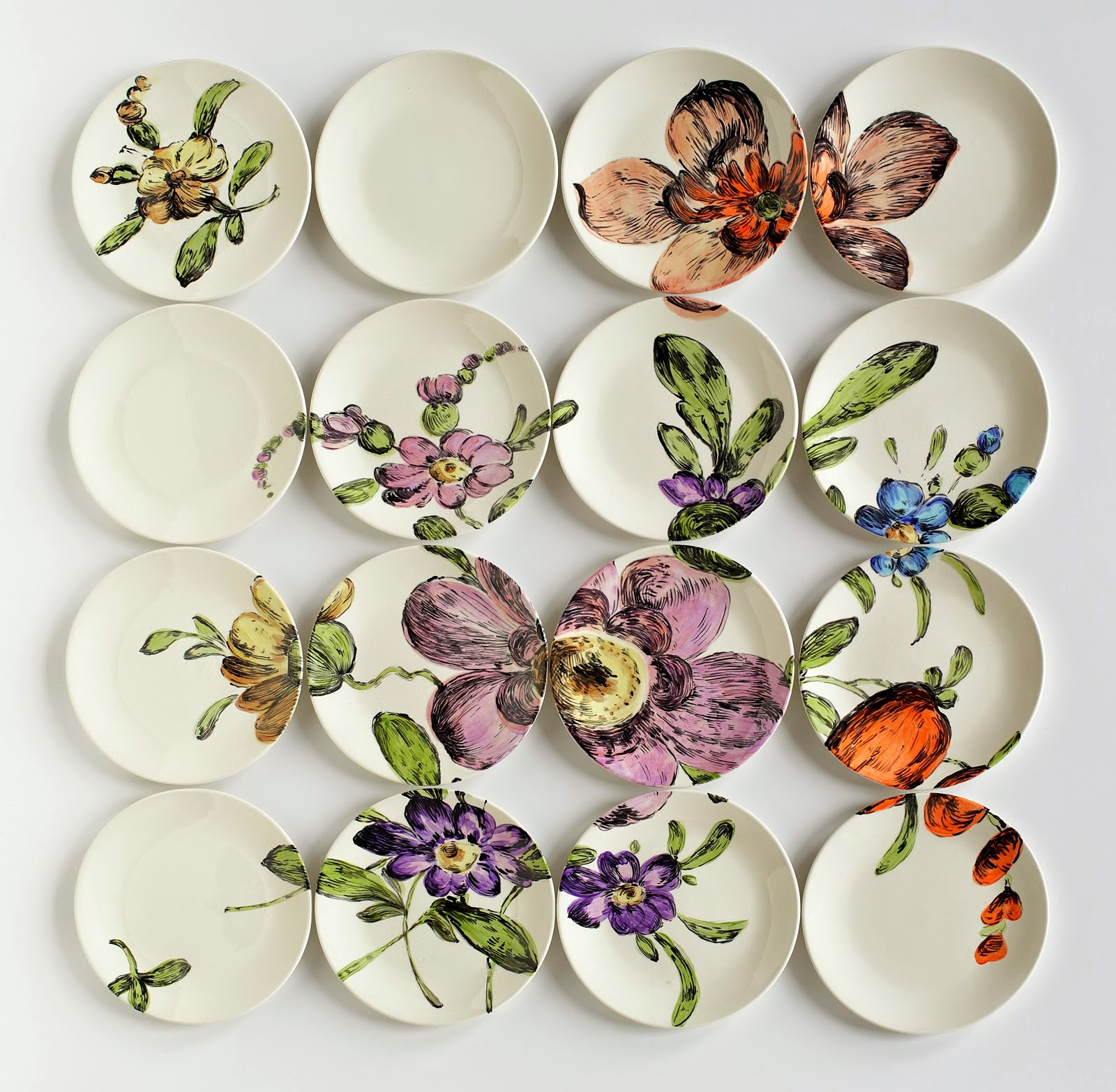 Simply Creative Ceramic Plate Installations By Molly Hatch