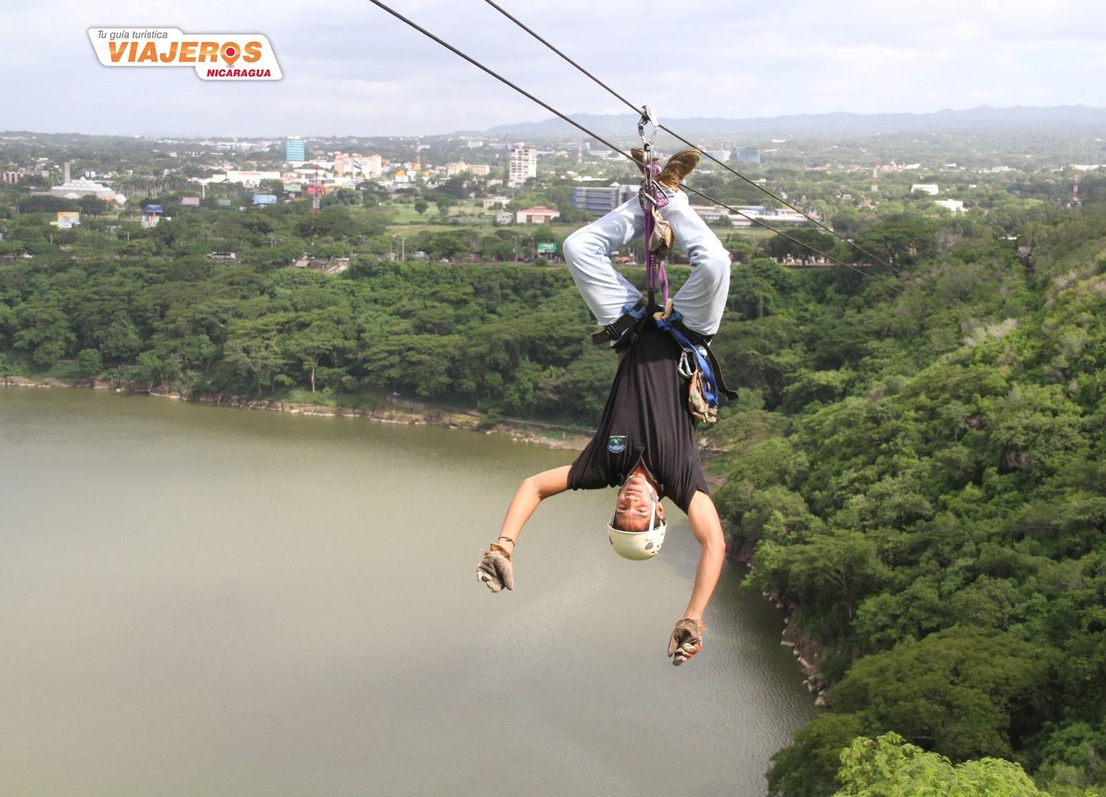 El Canopy Tour que está sobre la laguna de Tiscapa es una actividad emocionante en local único situado en el corazón de Managua. & Canopy Tour Tiscapa | VIAJEROS NICARAGUA