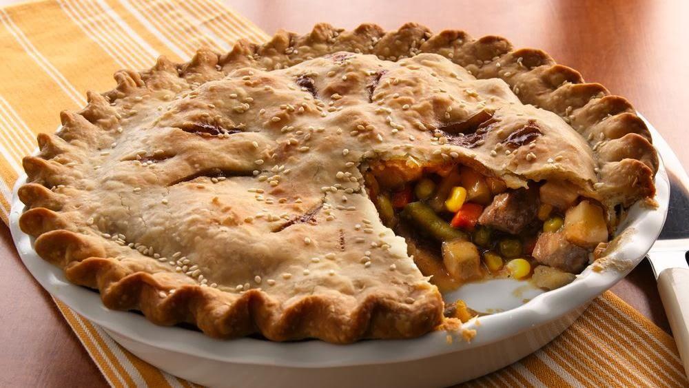 Fabulous ground beef & vegetables pie recipe. - Lakatwalk ...