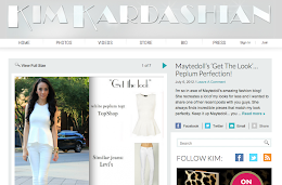 featured on Kim kardashian&#39;s blog 07-16-2012