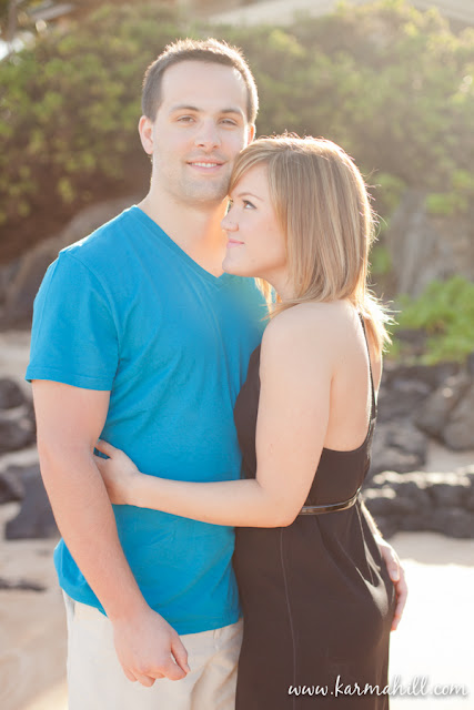 Maui engagement portraits