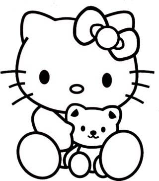 Mewarnai Gambar Hello Kitty Free Download