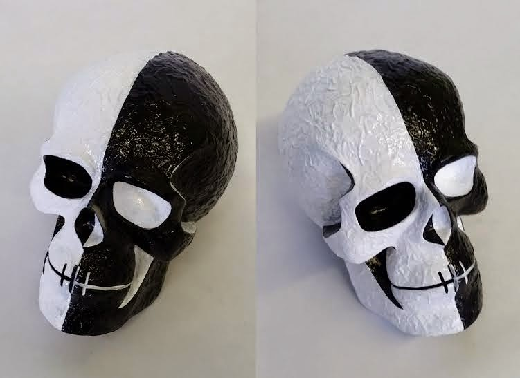Extreme YinYang Kings of Atlantis Skull Resin Figure by Argonaut Resins
